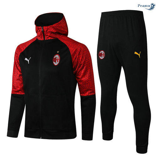 Peamu - Survetement - Sweat à capuche AC Milan Noir 2021-2022