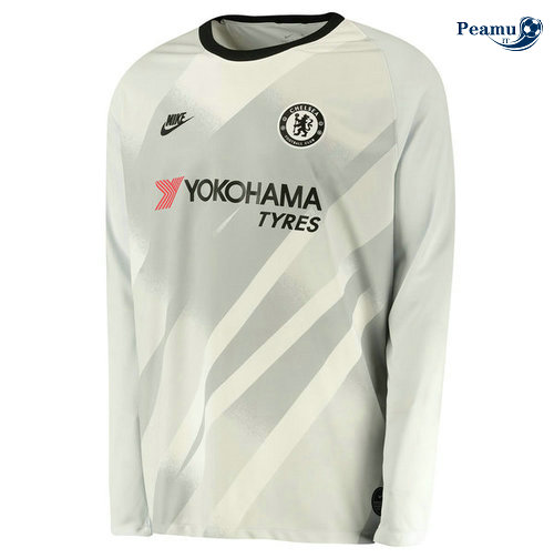 Maillot foot Chelsea Third Portiere Manche Longue Gris 2019-2020