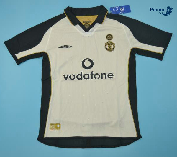 Classico Maglie Manchester United Third Bianco 2001-02
