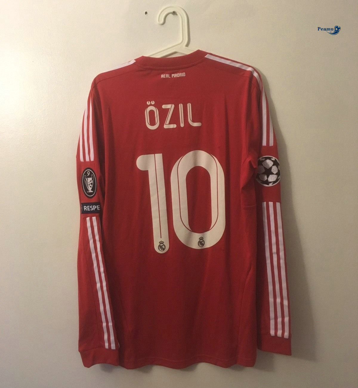 Classico Maglie Real Madrid Manche Longue Third Rouge (10 Ozil) 2011-12