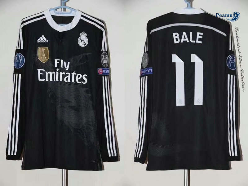 Classico Maglie Real Madrid Manche Longue Third (11 Bale) 2014-15