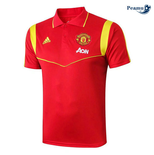 Kit Maillot Entrainement POLO Manchester United + Pantalon Rouge 2019-2020