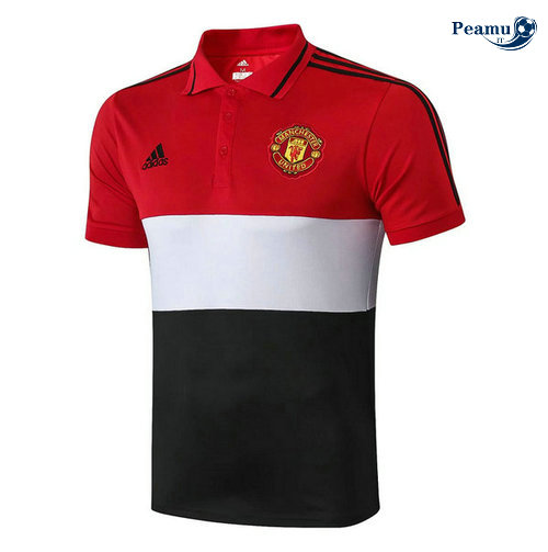 Manchester United POLO Rouge/Noir 2019-2020