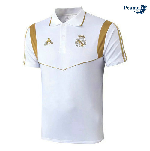 Kit Maillot Entrainement POLO Real Madrid + Pantalon Bianco 2019-2020