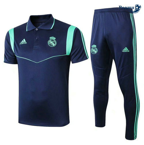 Kit Maillot Entrainement POLO Real Madrid + Pantalon Bleu navy 2019-2020
