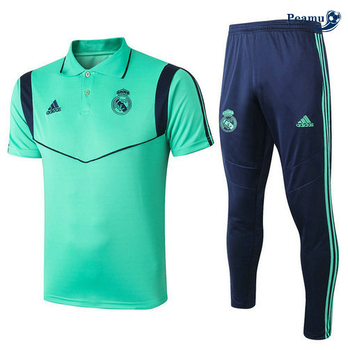 Kit Maillot Entrainement POLO Real Madrid + Pantalon Verde 2019-2020