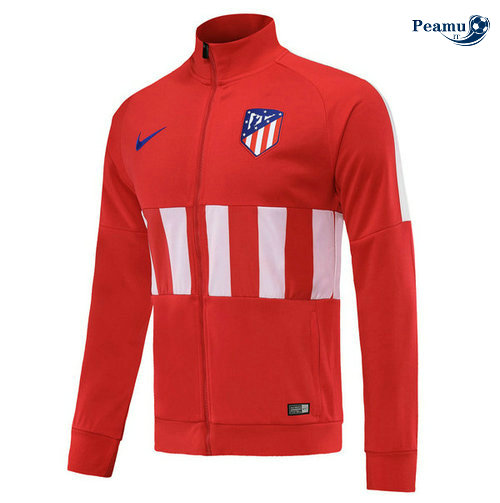 Veste foot Atletico Madrid Rouge/Bianco 2019-2020 Collo Alto