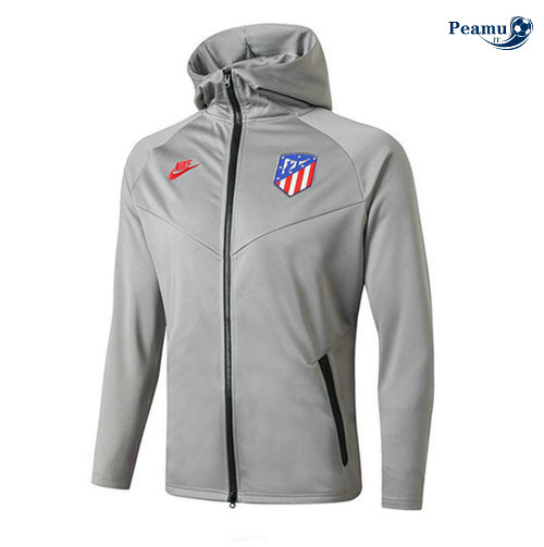Sweat à capuche Calcio Atletico Madrid Gris 2019-2020