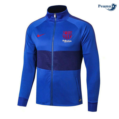 Veste foot Barcelone Bleu clair 2019-2020 Collo Alto