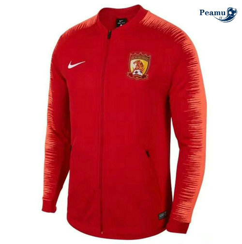 Veste foot Guangzhou Chine Rouge 2019-2020