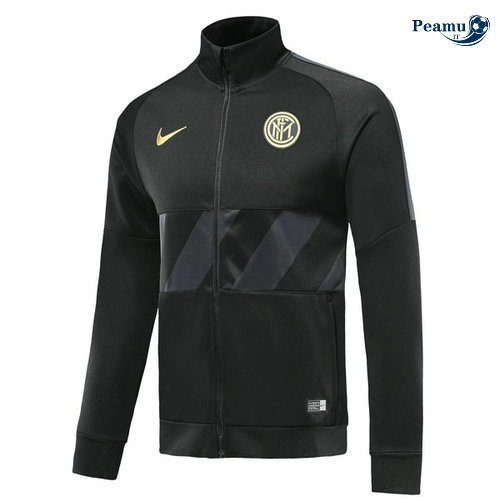 Veste foot Inter Milan Noir 2019-2020 Collo Alto