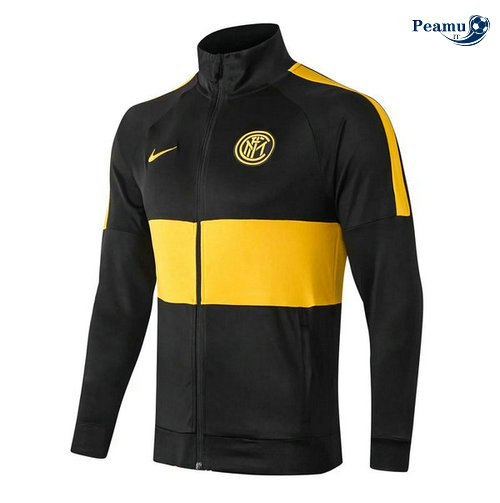 Veste foot Inter Milan Noir/Jaune 2019-2020 Collo Alto