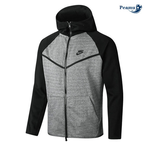 Sweat à capuche Calcio Italie Gris/Noir manche Tech Fleece 2020-2021