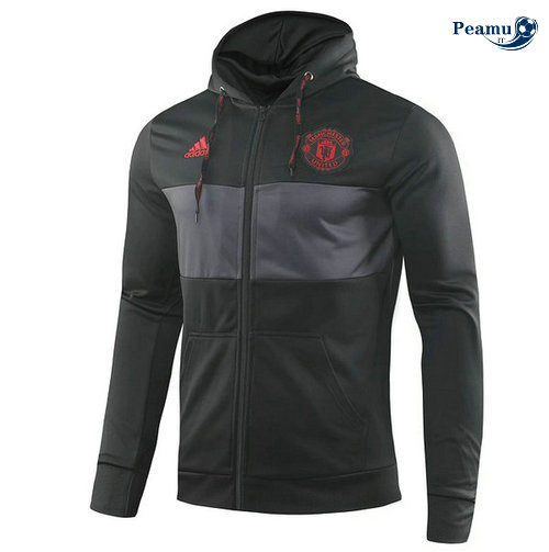 Sweat à capuche Manchester United Noir 2019-2020