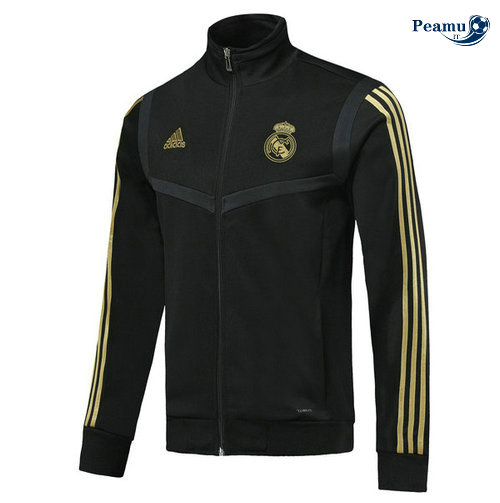 Veste foot Real Madrid Noir 2019-2020 Collo Alto