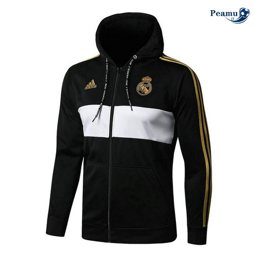 Sweat à capuche Calcio Real Madrid Noir/Bianco 2019-2020