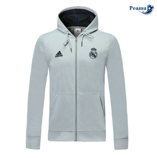 Sweat à capuche Real Madrid Gris clair 2019-2020