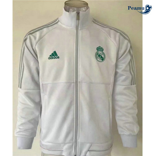 Veste foot Real Madrid Bianco Collo Alto 2019-2020