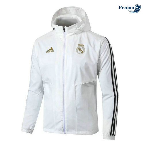 Giacca A Vento Real Madrid Bianco/Noir 2019-2020