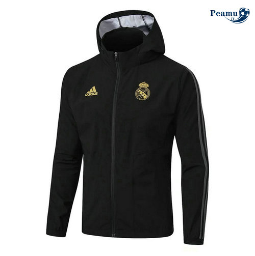Giacca A Vento Noir Real Madrid 2019-2020