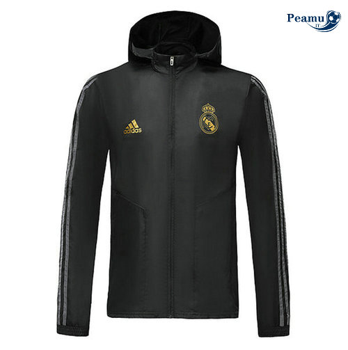 Giacca A Vento Real Madrid Noir 2019-2020