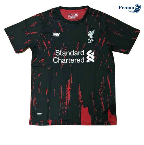 Maillot foot Liverpool training Noir Rouge 2019-2020