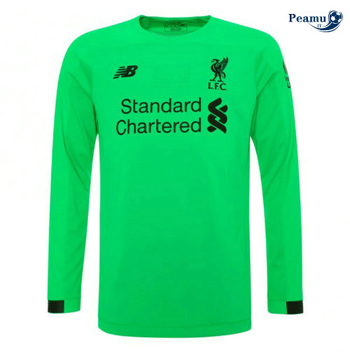 Maillot foot Liverpool Portiere Manche Longue Verde 2019-2020