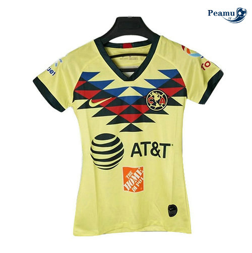 Maillot foot CF American Femme Jaune 2019-2020
