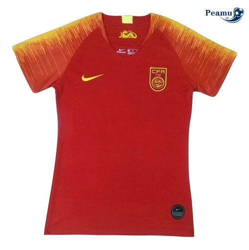 Maillot foot Chine Femme Domicile Rouge 2019-2020