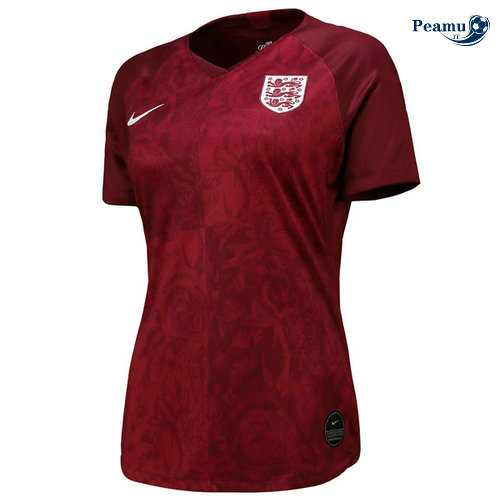 Maillot foot Angleterre Femme Exterieur Rouge 2019-2020