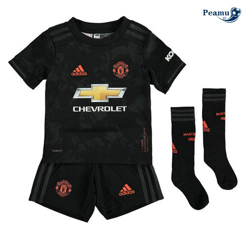 Maillot foot Manchester United Enfant Third Noir 2019-2020