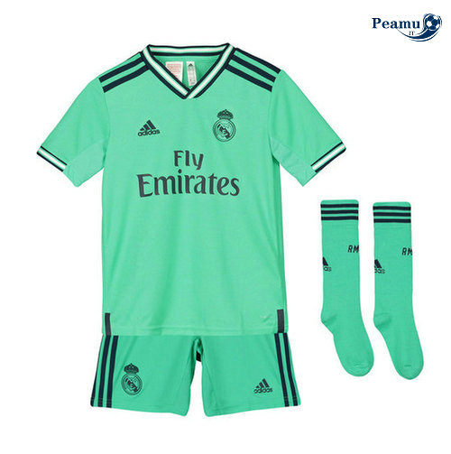 Maillot foot Real Madrid Enfant Third Verde 2019-2020