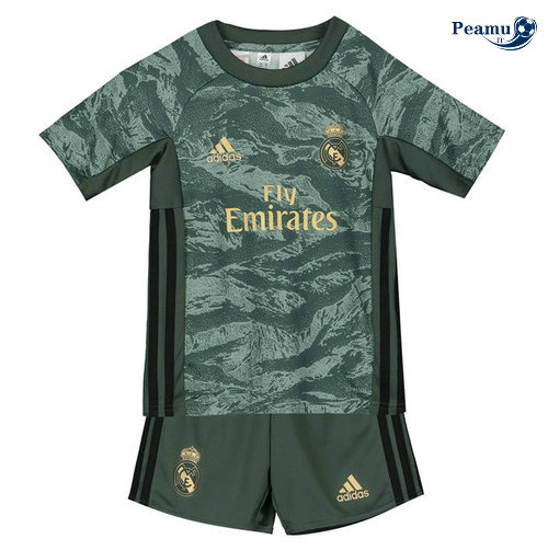 Maillot foot Real Madrid Enfant Gris/Verde 2019-2020
