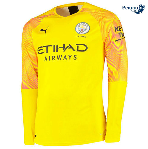 Maillot foot Manchester City Third Portiere Manche Longue 2019-2020