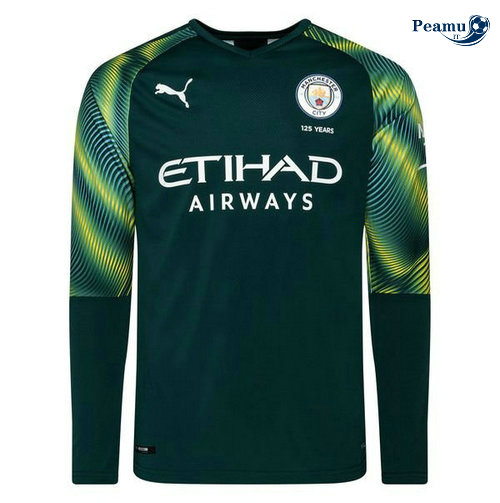 Maillot foot Manchester City Portiere Verde Manche Longue 2019-2020