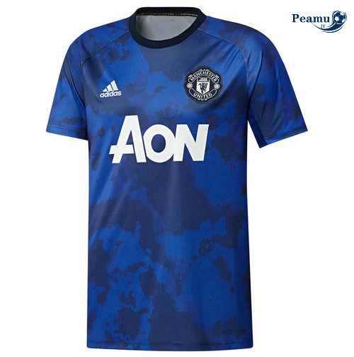 Maillot foot Manchester United training Bleu clair 2019-2020