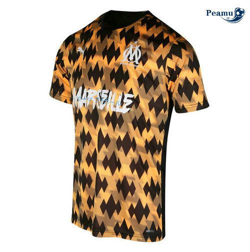 Maillot foot Marseille training Jaune 2019-2020