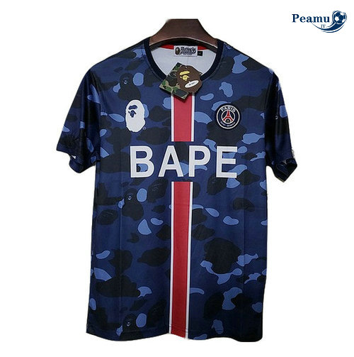 Maillot foot PSG BAPE popular logo Paris fashion 2019-2020