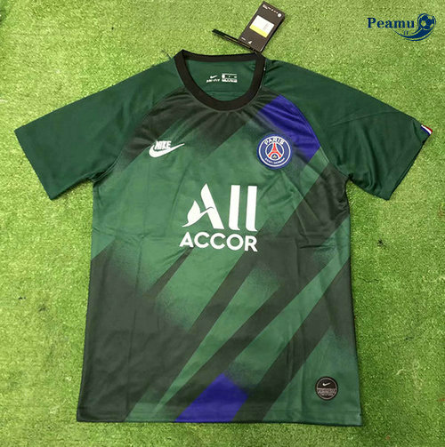 Maillot foot PSG Training Verde 2019-2020