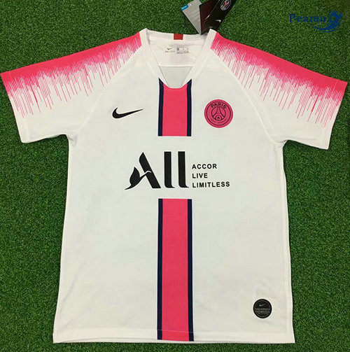 Maillot foot PSG training Bianco/Rouge 2019-2020