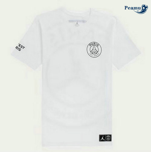 Maillot foot PSG Jordan training Logo Bianco 2019-2020