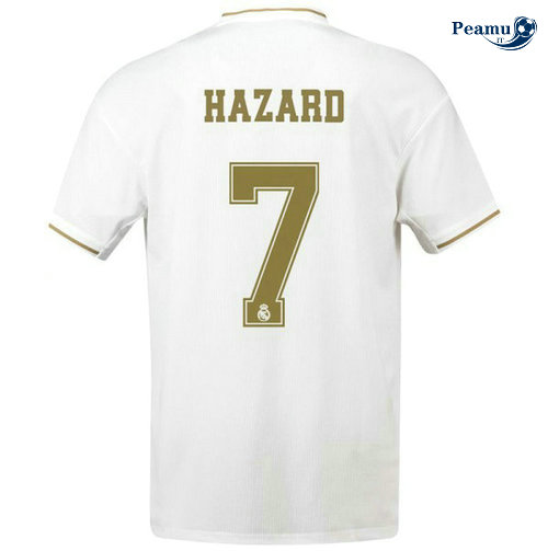 Maillot foot Real Madrid Domicile Bianco Hazard 7 2019-2020