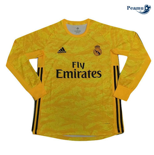 Maillot foot Real Madrid Portiere Manche Longue Jaune 2019-2020