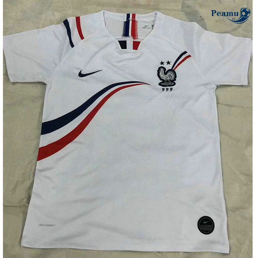 Maillot foot France Bianco 2019-2020