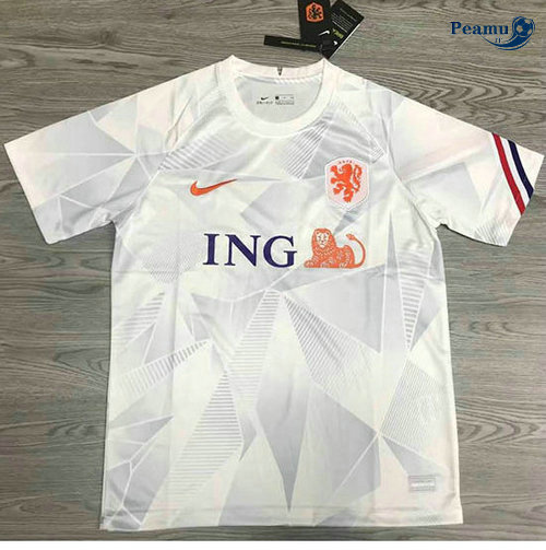 Maillot foot Pays-Bas Exterieur Bianco 2020-2021