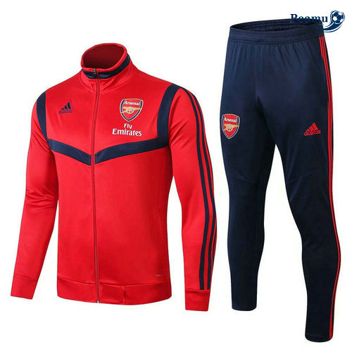 Veste Survetement Arsenal Rouge/Bleu clair 2019-2020 Collo Alto