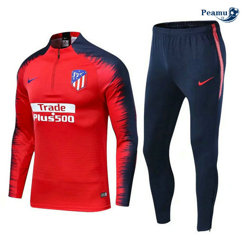 Survetement Atletico Madrid Rouge Bleu clair 2019-2020