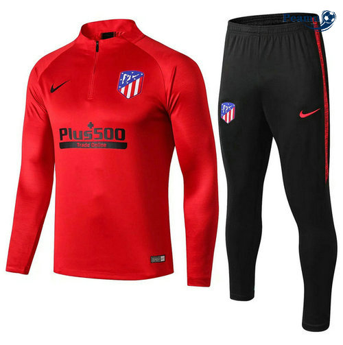 Survetement Atletico Madrid Rouge Noir 2019-2020