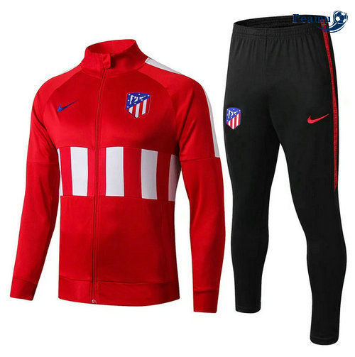 Veste Survetement Atletico Madrid Rouge Noir 2019-2020