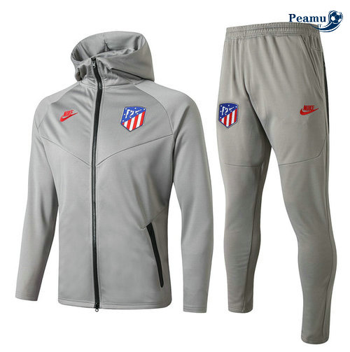 Survetement - Sweat à capuche Atletico Madrid Gris 2019-2020